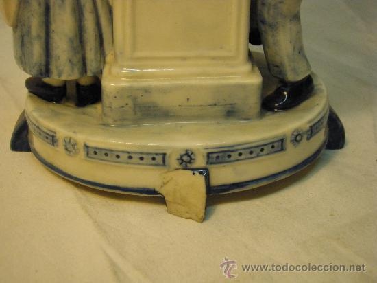 Antigüedades: PIE DE LAMPARA DE PORCELANA DE DELFT - Foto 4 - 27131762