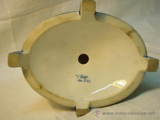 Antigüedades: PIE DE LAMPARA DE PORCELANA DE DELFT - Foto 5 - 27131762
