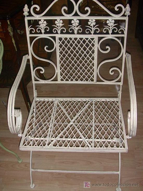 Liquidacion sillon de hierro para jardin o terr comprar for Liquidacion muebles jardin