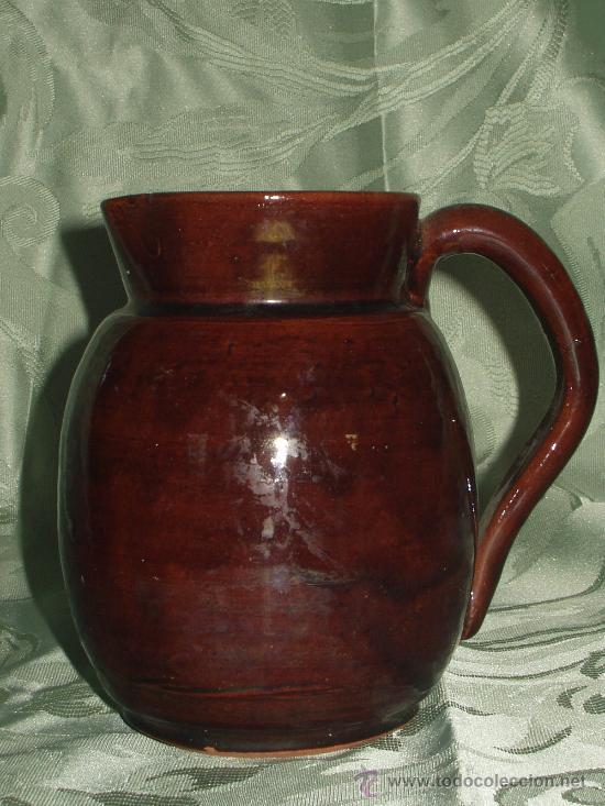 JARRA CERAMICA POPULAR VIDRIADA ANTIGUA (Antigüedades - Porcelanas y Cerámicas - Otras)