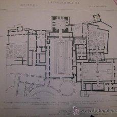 Antigüedades: GRANADA. ALHAMBRA. ARQUITECTURA. ESTAMPA. S.XIX.. Lote 15227755