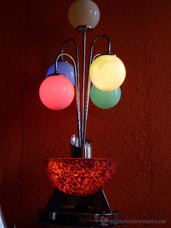 LAMPARA SOBREMESA AÑOS 60 POSIBLEMENTE VALENCIANA (Antigüedades - Iluminación - Lámparas Antiguas)