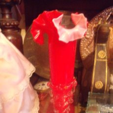 Antigüedades: PRECIOSO VIOLETERO EN OPALINA Y CRISTAL SOPLADO.. Lote 27388706