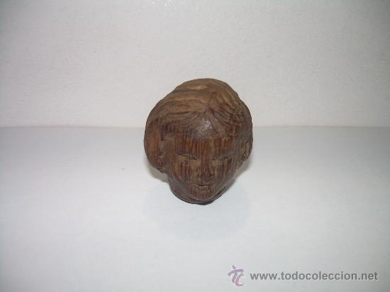 ANTIGUA Y PEQUEÑA TALLA DE MADERA NOBLE. (Antigüedades - Hogar y Decoración - Otros)