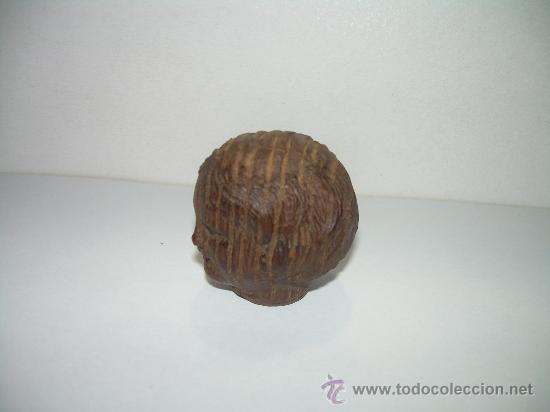 Antigüedades: ANTIGUA Y PEQUEÑA TALLA DE MADERA NOBLE. - Foto 3 - 17833642