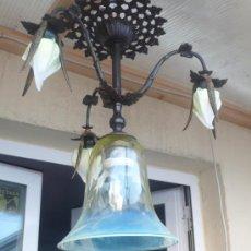 Antigüedades: LAMPARA DE TECHO MODERNISTA. Lote 26426292