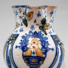 Antigüedades: JARRA CERÁMICA VIRGEN DEL PRADO TALAVERA S XIX. Lote 26643438