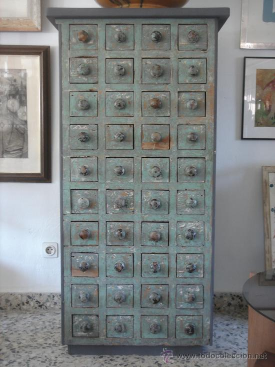 Antiguo Mueble De Ferreter A Decapado De 40 Ca Comprar