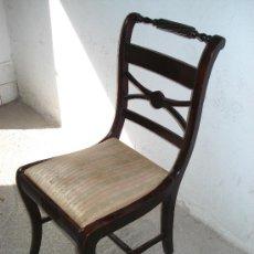 Antigüedades: SILLA ROMANTICA SIGLO XIX - MADERA DE CEDRO C. 1830. Lote 27106143