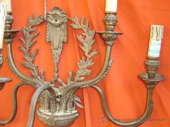 Antigüedades: aplique de pared de bronce - Foto 2 - 15617206