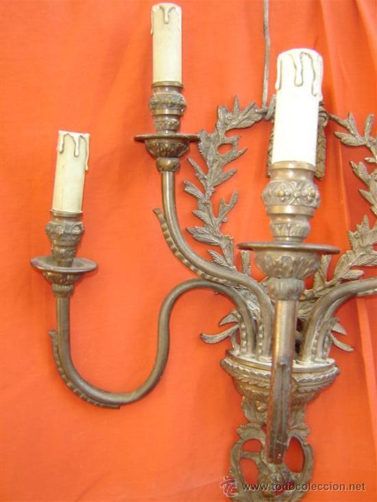Antigüedades: aplique de pared de bronce - Foto 4 - 15617206