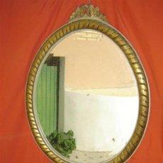 Antiguidades: ESPEJO DE MADERA POLICROMADA. Lote 15626904