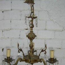 Antigüedades: LAMPARA DE BRONCE . Lote 15627263