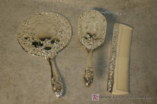 Set de tocador cepillo espejo peine ba ado en p comprar for Espejo y cepillo antiguo