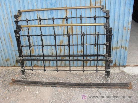 Cama de hierro y metal antigua 134cm vendido en venta - Camas antiguas de hierro ...