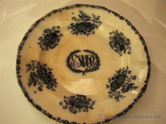 PLATO SARGADELOS TERCERA ÉPOCA (Antigüedades - Porcelanas y Cerámicas - Sargadelos)