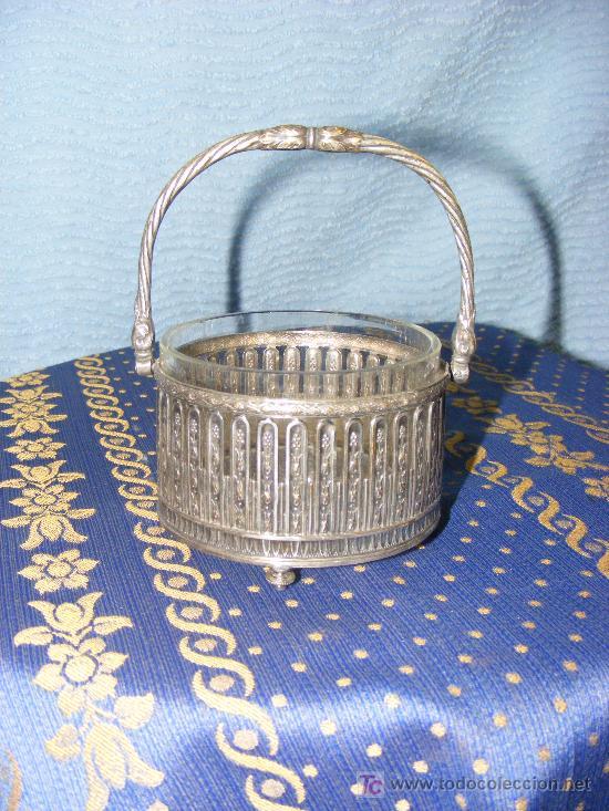 Antigüedades: Azucarero de metal plateado - Foto 4 - 26623047