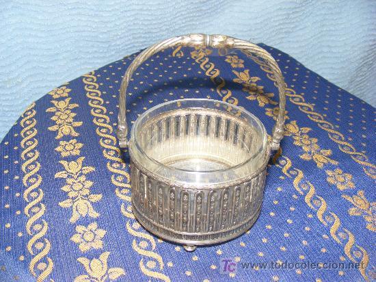 Antigüedades: Azucarero de metal plateado - Foto 3 - 26623047