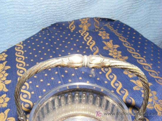 Antigüedades: Azucarero de metal plateado - Foto 2 - 26623047