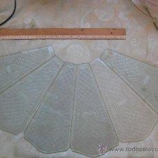 Antigüedades: CRISTALES TALLADOS PARA FAROL - SEIS. Lote 22582400