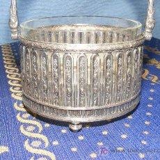 Antigüedades: AZUCARERO DE METAL PLATEADO . Lote 26623047