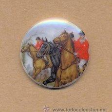 Antigüedades: BISUTERIA 122 - PORCELANA CABALLOS 3 CMS DIÁMETRO. Lote 20370468