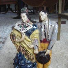 Antigüedades: FIGURA DE TRIANA, SEVILLA, CERÁMICA SANTA ANA. MANTIENE PARTE ETIQUETA. ALTURA APROX.: 24 CMS.. Lote 27195881