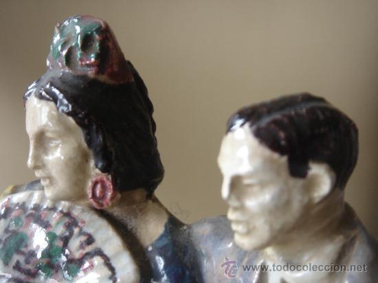 Antigüedades: FIGURA DE TRIANA, SEVILLA, CERÁMICA SANTA ANA. MANTIENE PARTE ETIQUETA. ALTURA APROX.: 24 CMS. - Foto 4 - 27195881