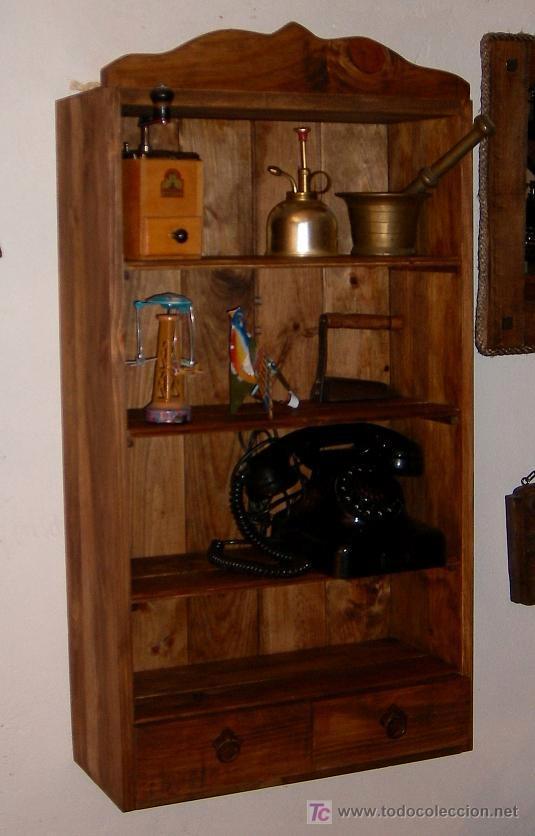 Mueble vitrina estanteria con 2 cajones mu comprar for Mueble vitrina