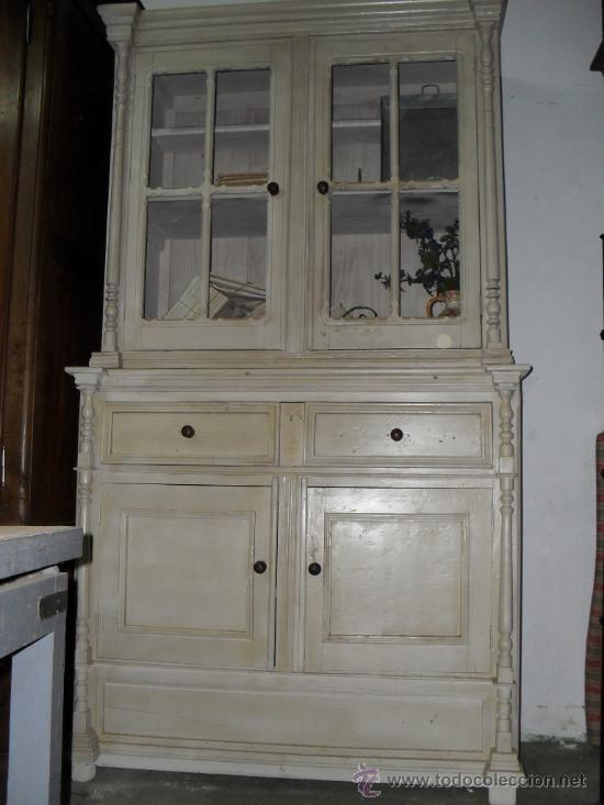 Aparador blanco cristalera comprar aparadores antiguos - Modernizar muebles antiguos ...