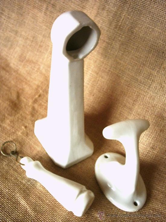Tres antiguos accesorios de porcelana para el b comprar for Accesorios bano porcelana