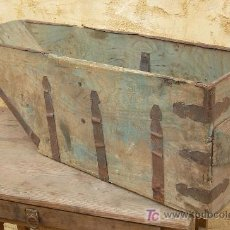 Antigüedades: MEDIA FANEGA ANTIGUA, BIEN HERRADA, APERO DE LABRANZA ,,,APE365. Lote 26724857