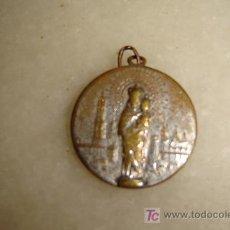 Antigüedades: ANTIGUA MEDALLA VIRGEN DEL PILAR. Lote 26684235