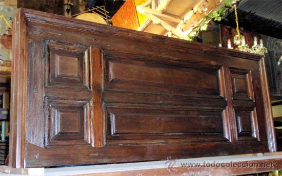 2 cabeceros antiguos, hechos de puerta antigua. - Comprar Camas ...