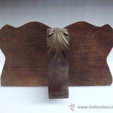 Antigüedades: PRECIOSA REPISA EN MADERA TALLADA. Lote 27021074
