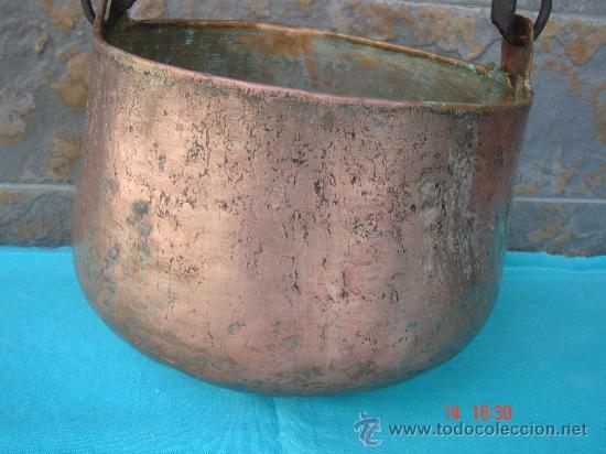 Antigüedades: VISTA DE LA PARTE INFERIOR Y DE LA PATINA DEL COBRE - Foto 2 - 26724608