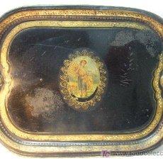 Antigüedades: BANDEJA LACADA DE HOJA DE LATA FINALES SIGLO XIX 60X45 CM. Lote 26967734