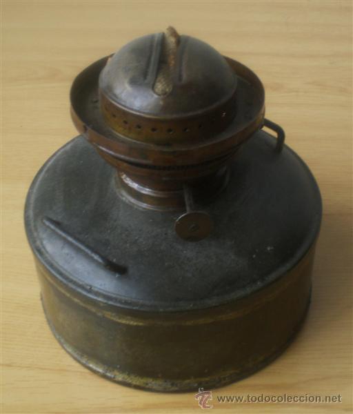 QUINQUE DE CHAPA (Antigüedades - Iluminación - Quinqués Antiguos)