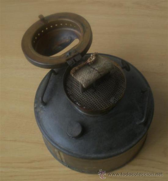 Antigüedades: QUINQUE de chapa - Foto 3 - 15909918