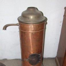 Antigüedades: ESTUFA DE COBRE. Lote 25640746