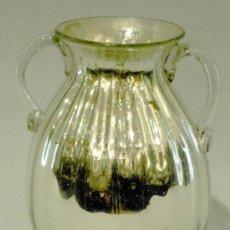 Antiquités: JARRÓN DOS ASAS VIDRIO AZOGUE S XIX POSIBLE LA GRANJA SEGOVIA. Lote 23762253