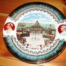 Antigüedades: PLATO PORCELANA EDELSTEIN - BAVARIA - SOUVENIR BASILICA DE SAN PEDRO ROMA - PABLO VI - JUAN XXIII -. Lote 26895027