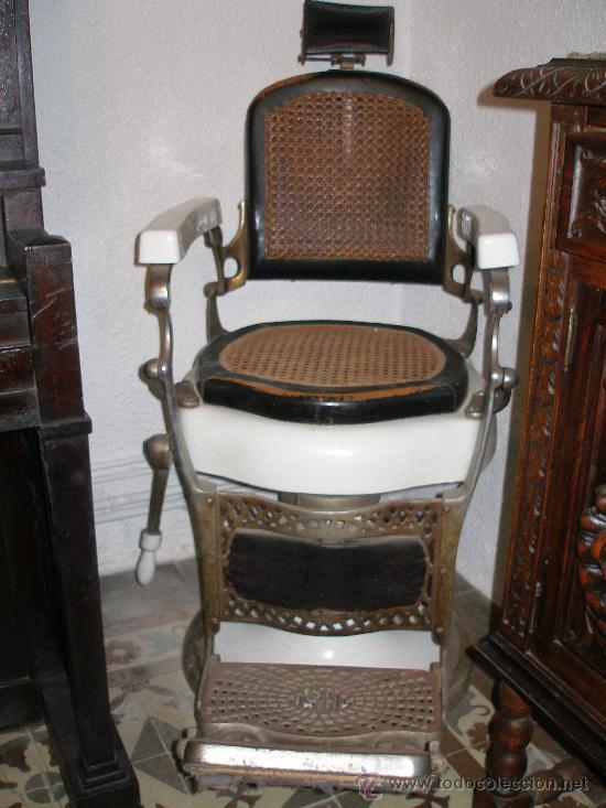 Lote 2 sillon de barbero peluquero marca jaso comprar for Sillones clasicos antiguos