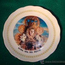 Antigüedades: ANTIGUO PLATITO PORCELANA,NTRA, SEÑORA DEL ROCIO.. Lote 16057280