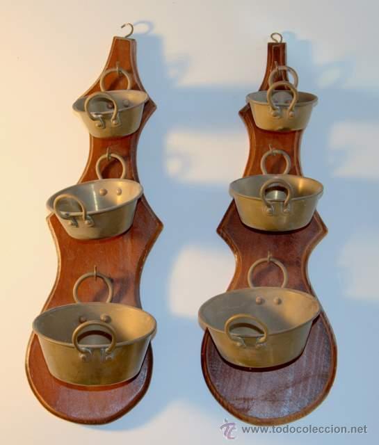 pareja de colgar utensilios de cocina en cobre, - Comprar ...