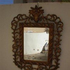 Antigüedades: ESPEJO EN PAN DE ORO MADERA Y ESTUCO. Lote 16149768