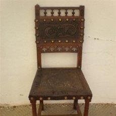 Antigüedades: SILLA ESTILO ESPAÑOL. Lote 37525693
