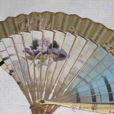 Antigüedades: ABANICO DAMA CON SOMBRERO DE FINALES DEL SIGLO XIX. . Lote 27271744