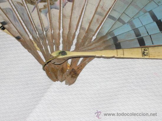 Antigüedades: ABANICO DAMA CON SOMBRERO DE FINALES DEL SIGLO XIX. - Foto 3 - 27271744