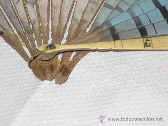Antigüedades: ABANICO DAMA CON SOMBRERO DE FINALES DEL SIGLO XIX. - Foto 4 - 27271744